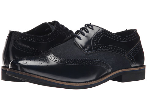 Lotus - Stamford (Navy Leather/Suede) Men's Lace Up Wing Tip Shoes