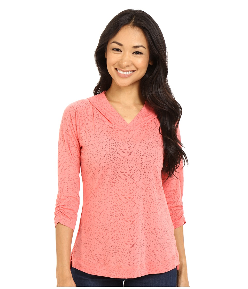Columbia See Through You Burnout Hoodie (Coral Bloom Burnout) Women