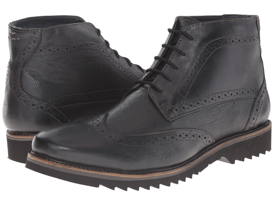 Lotus - Rushmore (Black Leather) Men's Lace-up Boots