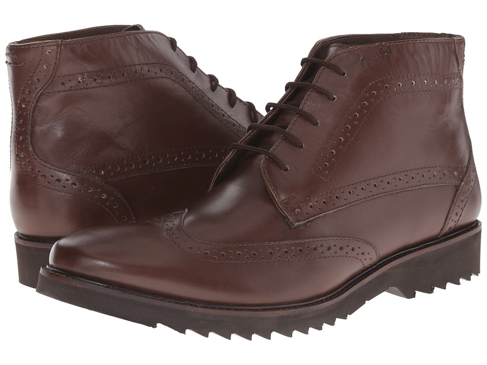 Lotus - Rushmore (Brown Leather) Men's Lace-up Boots