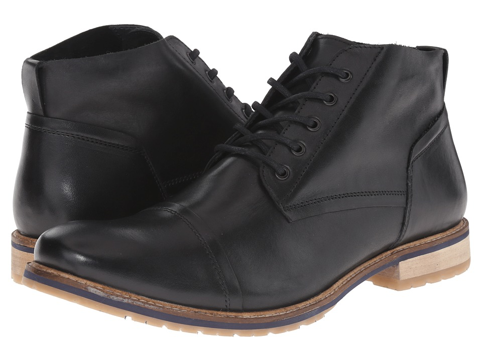 Lotus - Wheeler (Black Leather) Men's Lace-up Boots