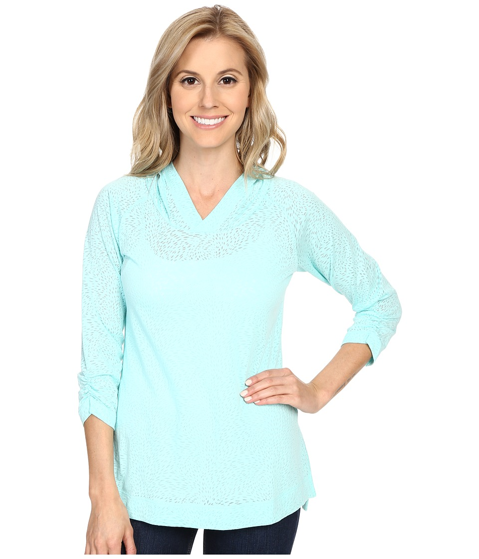 Columbia - See Through You Burnout Hoodie (Ocean Water Burnout) Women's Sweatshirt