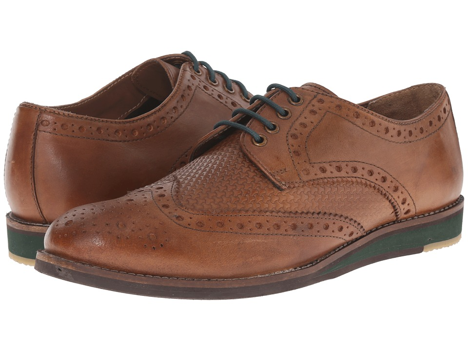 Lotus - Downey (Tan Leather) Men's Lace Up Wing Tip Shoes