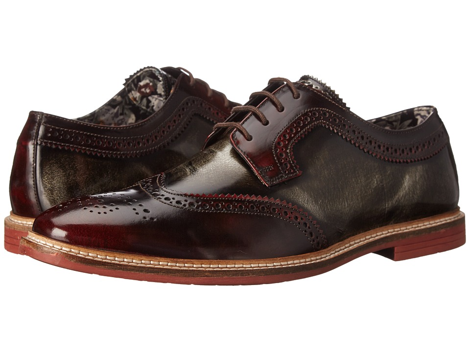 Lotus - Findlay (Bordeaux/Grey Rub Off Leather) Men's Shoes