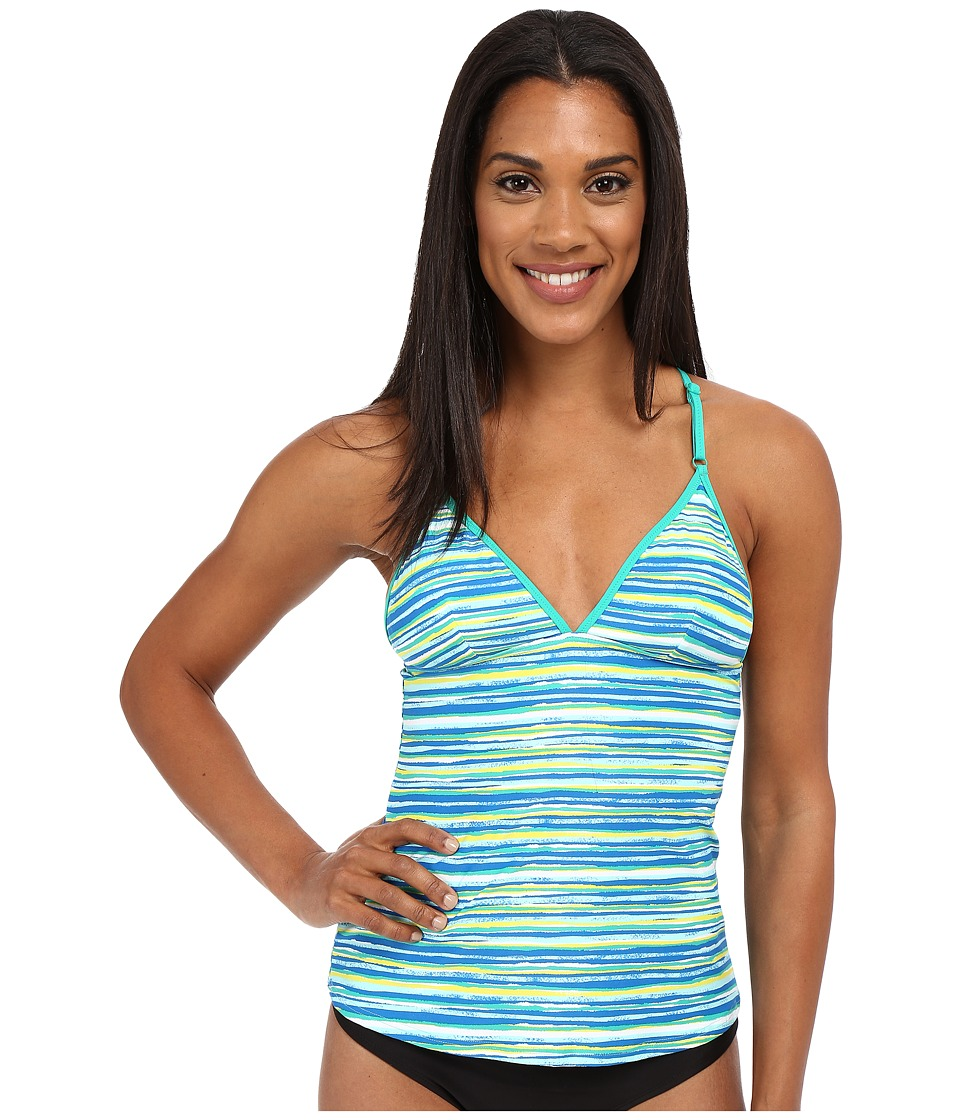 Lole - Muara Tankini Top (Aruba Blue Stripe) Women's Swimwear