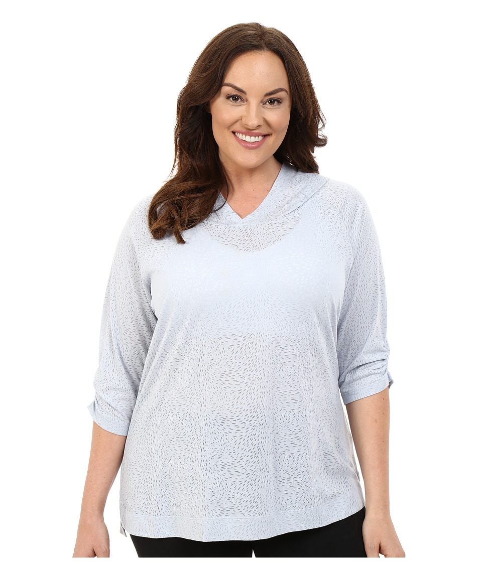Columbia - Plus Size See Through You Burnout Hoodie (Cirrus Grey Burnout) Women's Sweatshirt