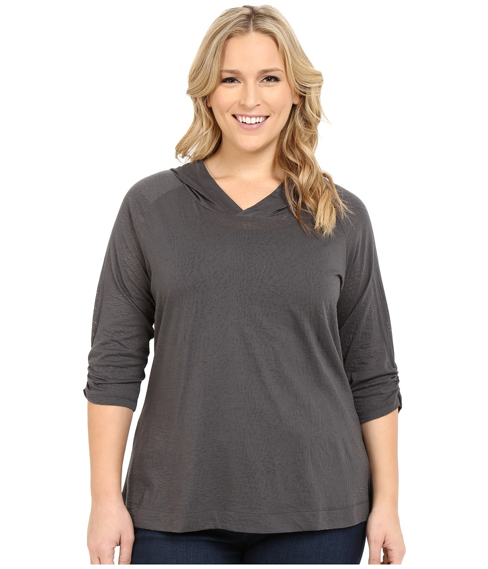 Columbia - Plus Size See Through You Burnout Hoodie (Grill Burnout) Women's Sweatshirt