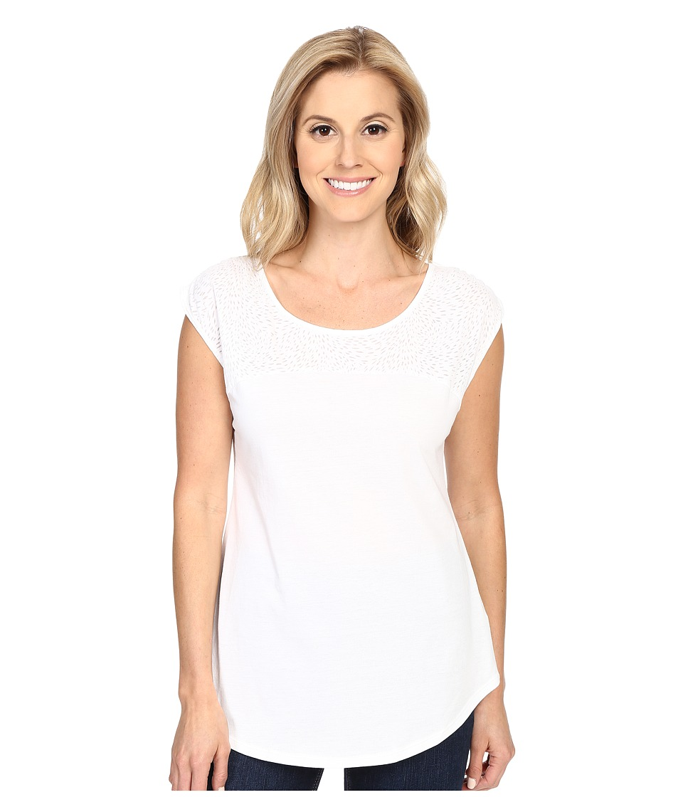 Columbia - See Through You II Burnout Tee (White Burnout) Women's Short Sleeve Pullover