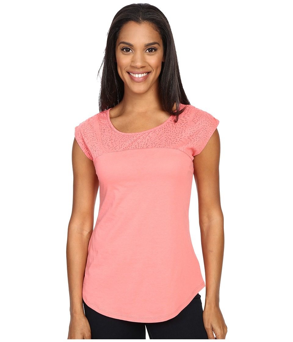 Columbia - See Through You II Burnout Tee (Coral Bloom Burnout) Women's Short Sleeve Pullover