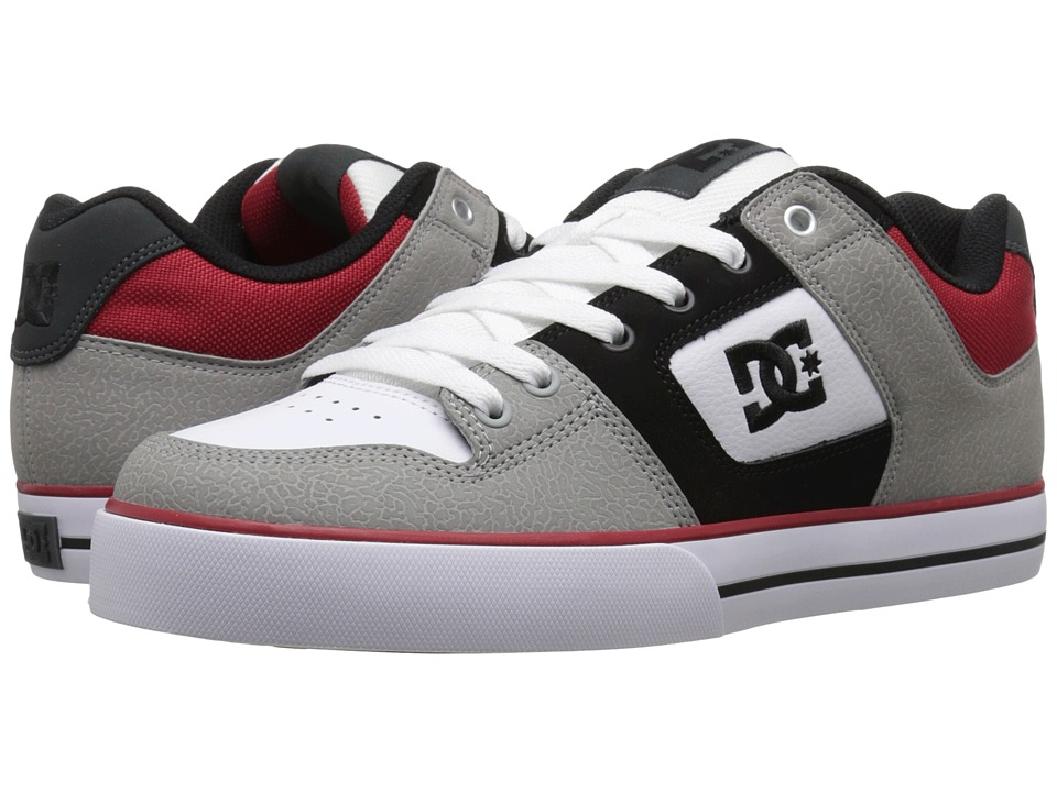 DC - Pure (Grey/Black/Red) Men's Skate Shoes
