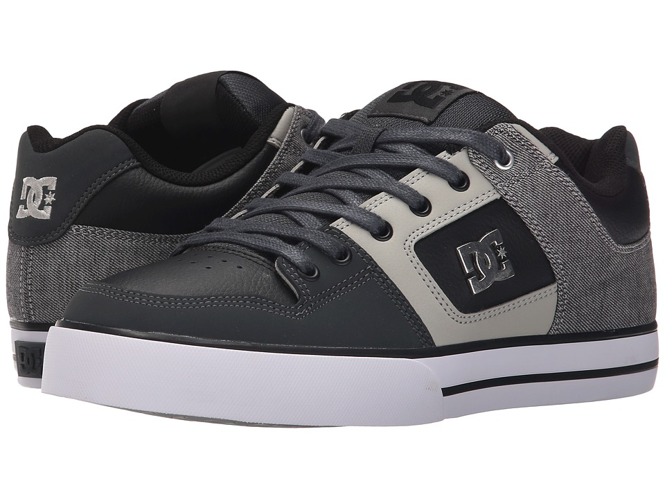 DC - Pure SE (Grey/Black/Grey) Men's Skate Shoes