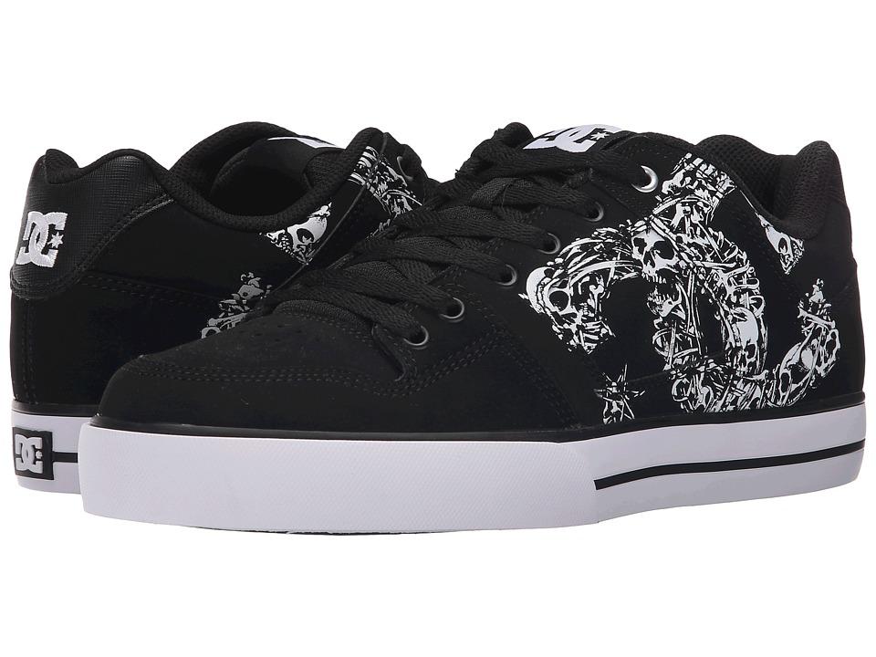 DC - Pure SE (Black/Black/White) Men's Skate Shoes