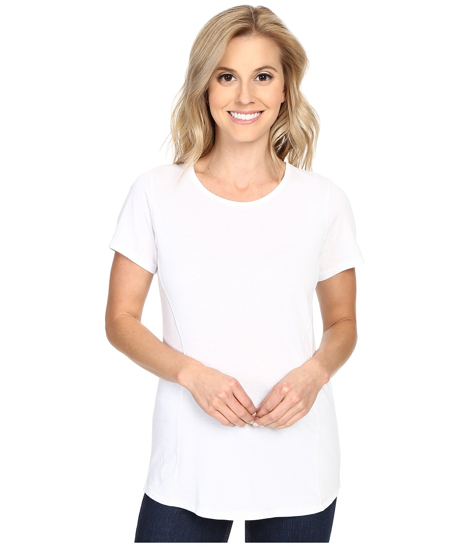 Columbia - Everything She Needs Crew Neck Tee (White Heather) Women's Short Sleeve Pullover
