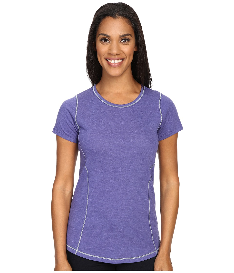 Columbia - Everything She Needs Crew Neck Tee (Skyward Heather) Women's Short Sleeve Pullover