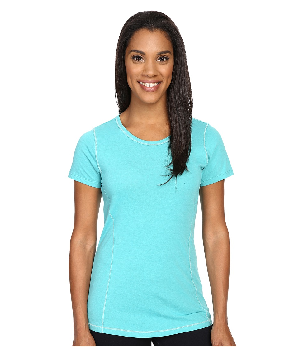 Columbia - Everything She Needs Crew Neck Tee (Miami Heather) Women's Short Sleeve Pullover