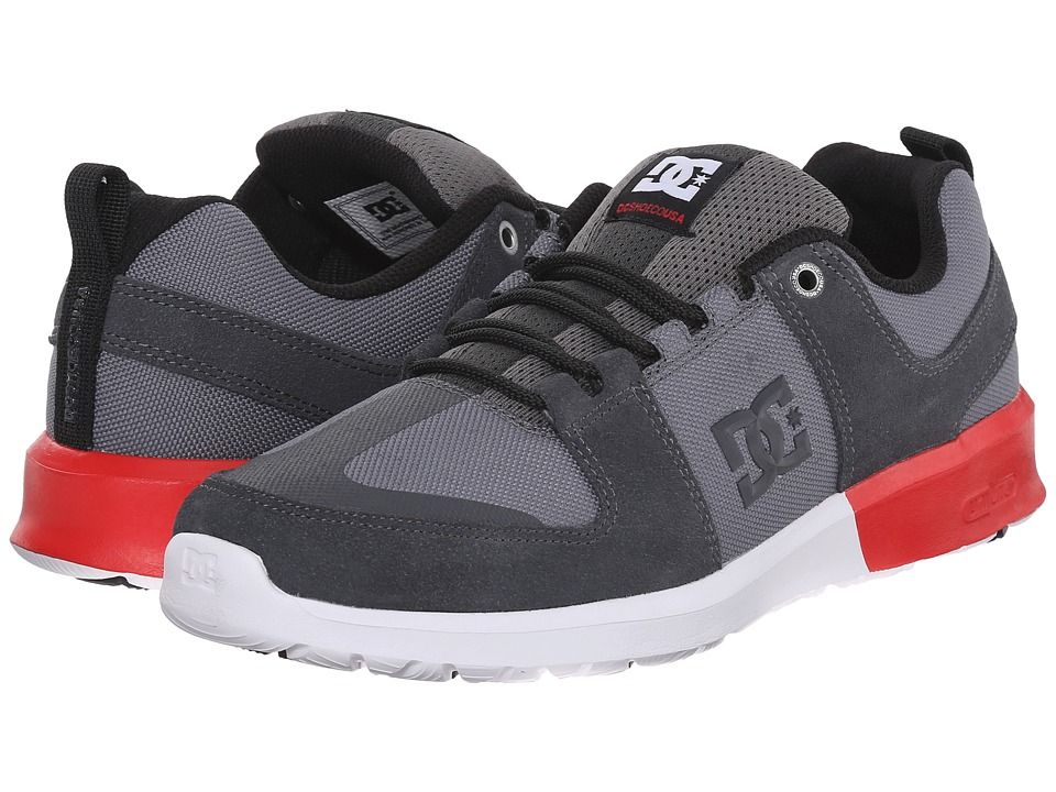 DC - Lynx Lite (Grey/Red/White) Skate Shoes