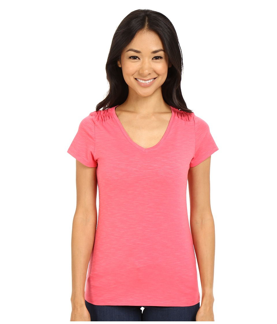 Columbia - Rocky Ridge IV Tee (Bright Geranium) Women
