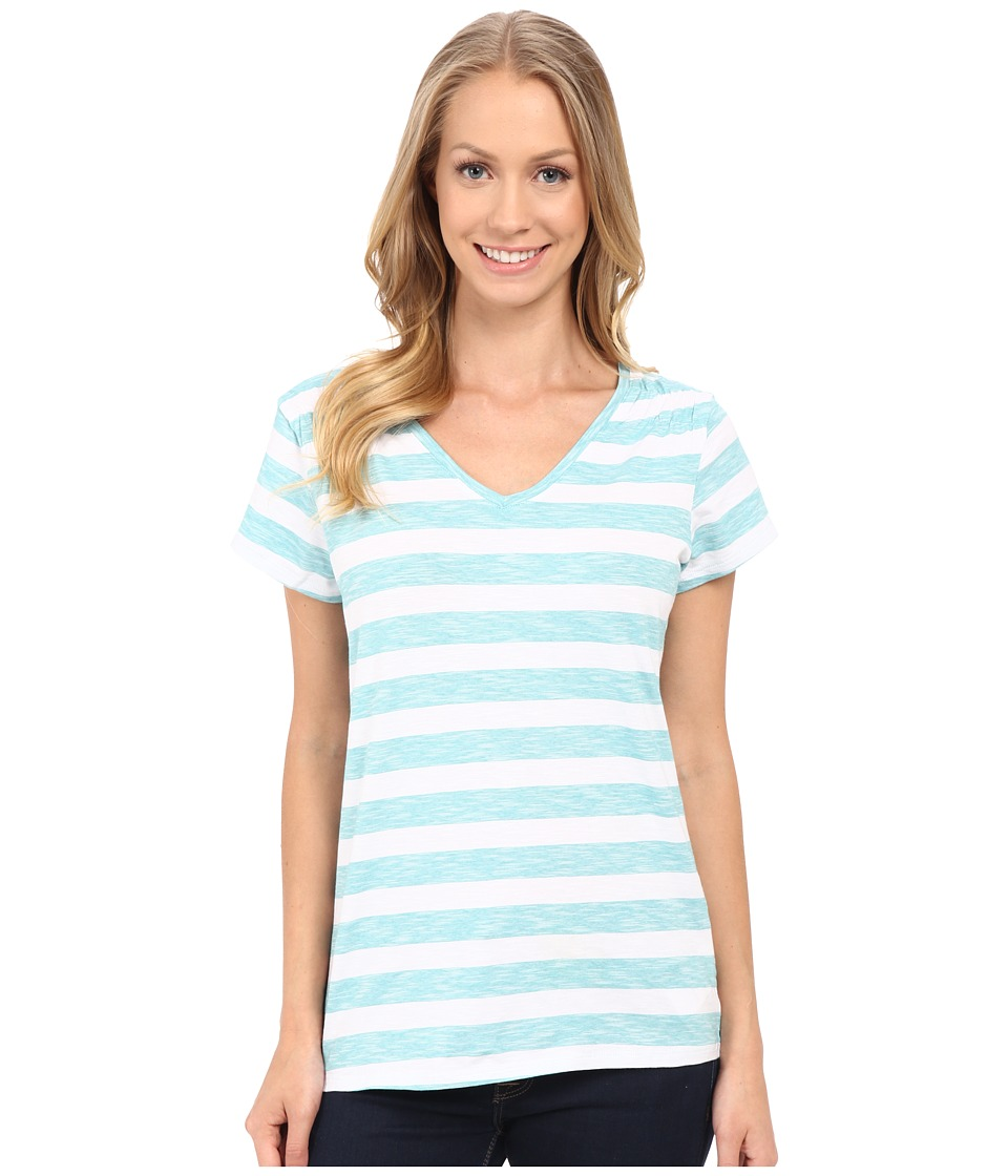Columbia - Rocky Ridge IV Print Tee (Miami Stripe) Women