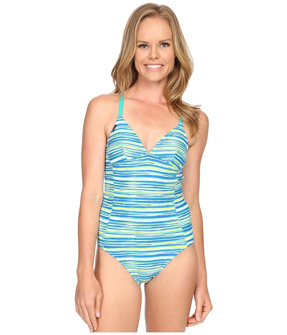 Lole Saranda One-Piece (Aruba Blue Stripe) Women