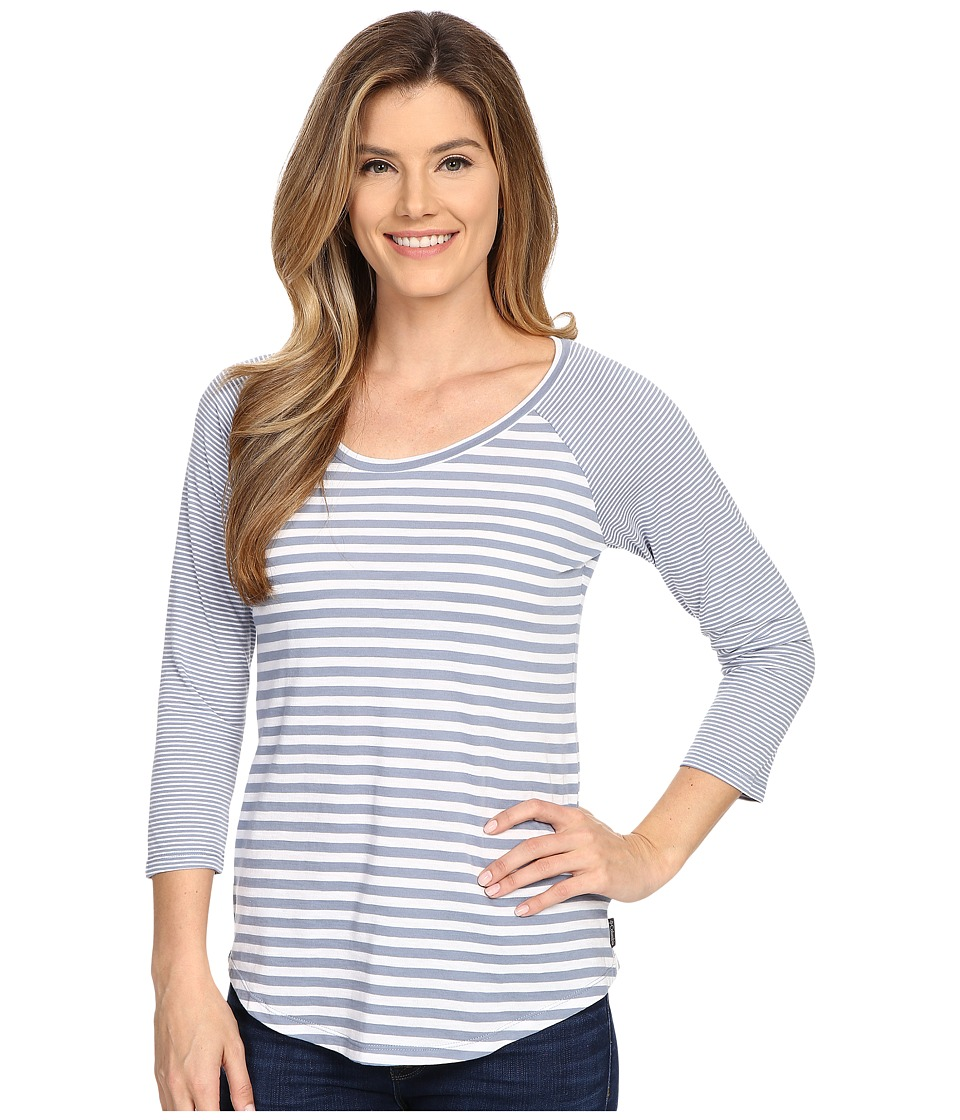 Columbia - Everyday Kenzie 3/4 Sleeve Tee (Beacon Stripe) Women's T Shirt