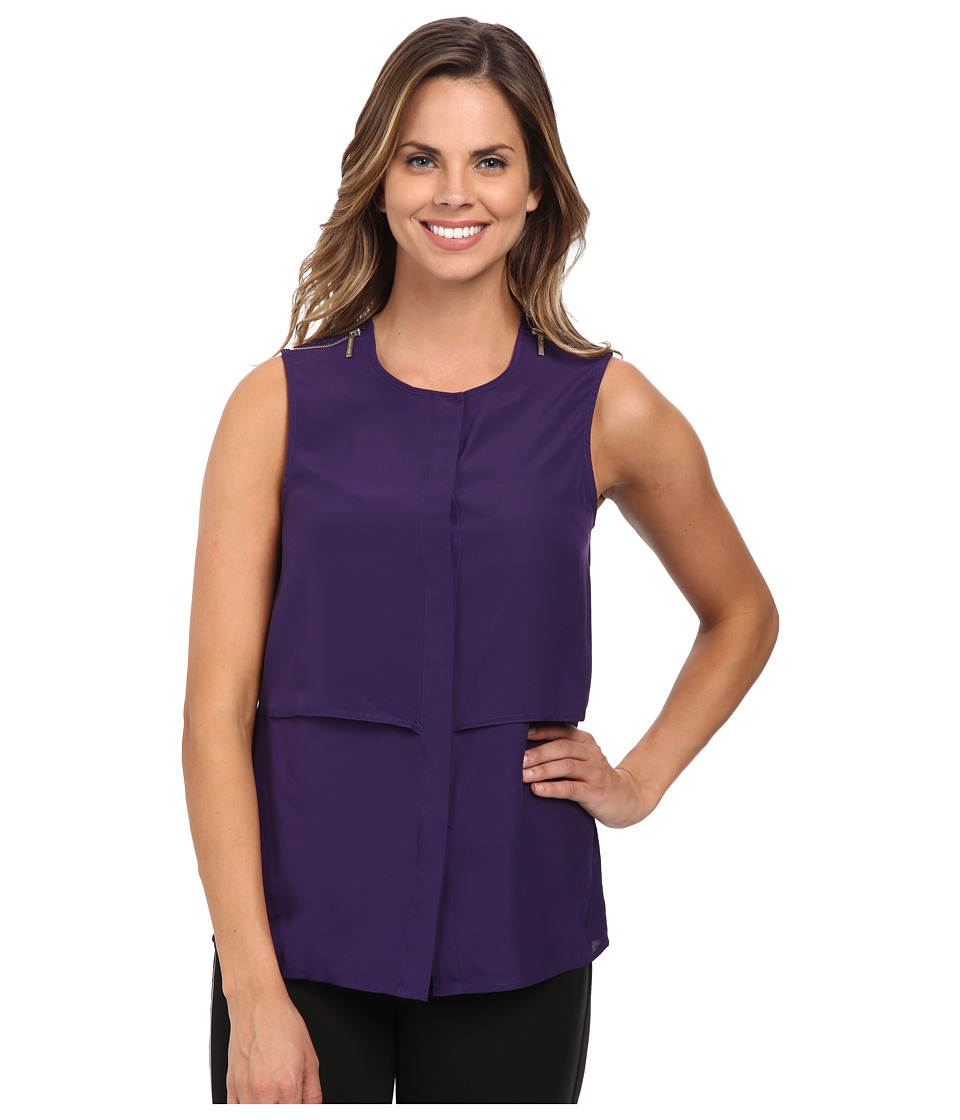 MICHAEL Michael Kors - Sleeveless Button Down Top (Iris) Women's Sleeveless