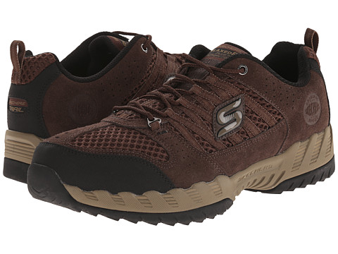 SKECHERS - Outland (Brown/Black) Men's Lace up casual Shoes