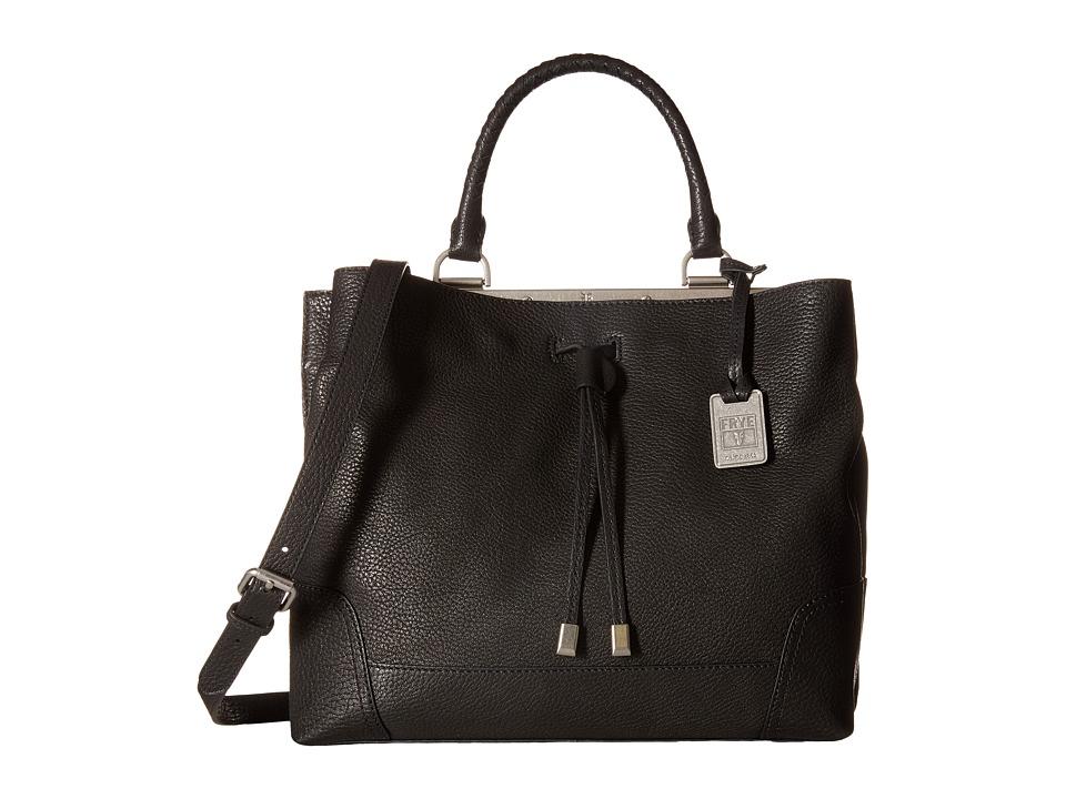 Frye - Fay Drawstring (Black Goat Leather) Drawstring Handbags