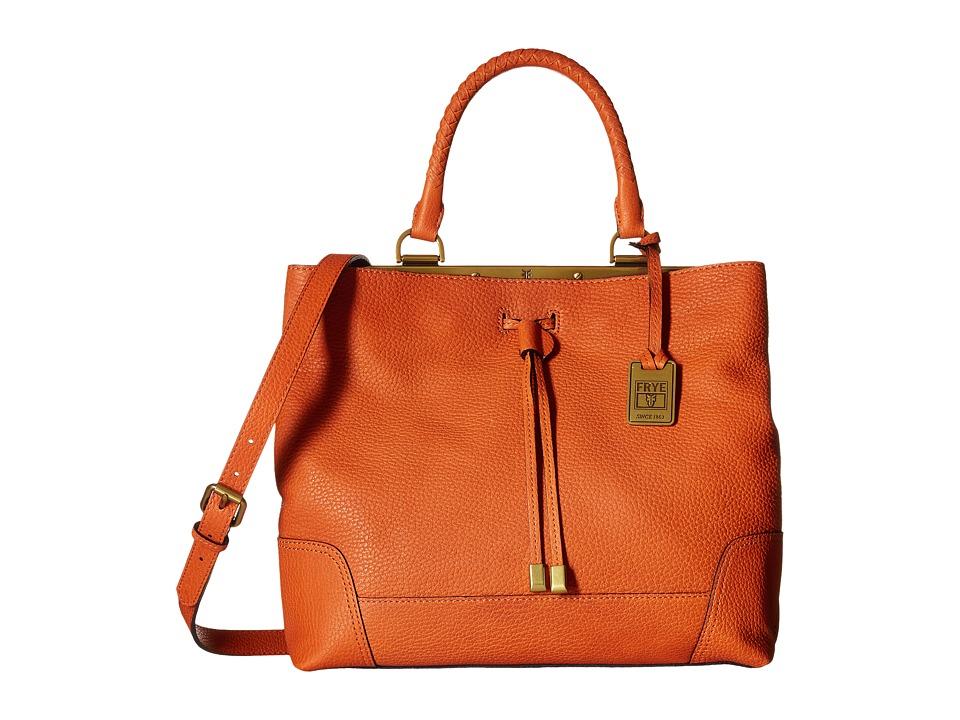 Frye - Fay Drawstring (Orange Goat Leather) Drawstring Handbags
