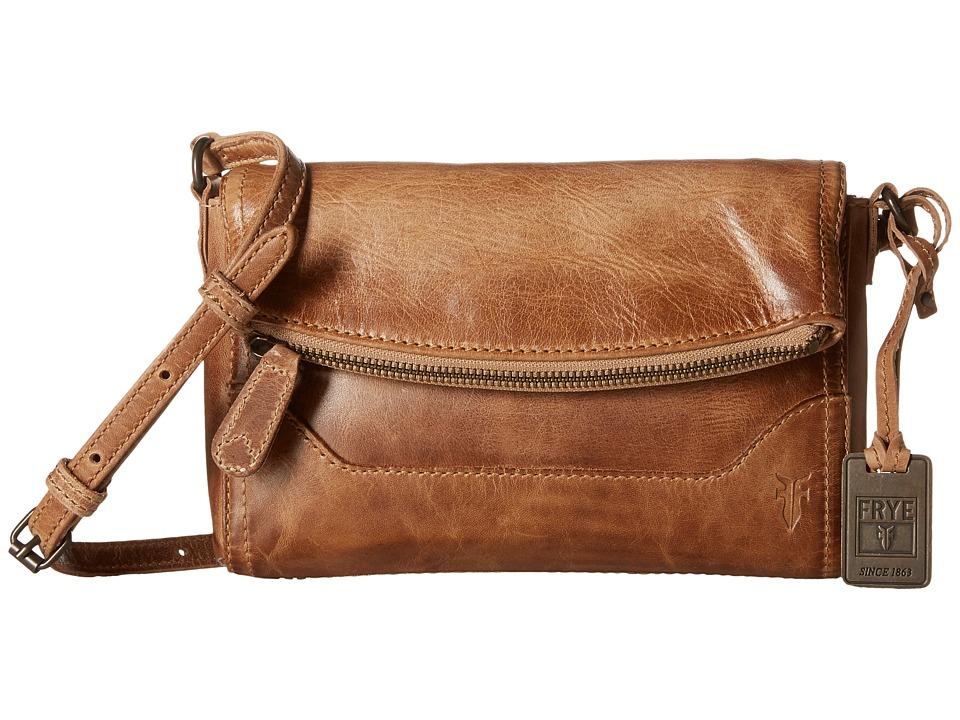 Frye - Melissa Foldover (Beige Antique Pull Up) Shoulder Handbags