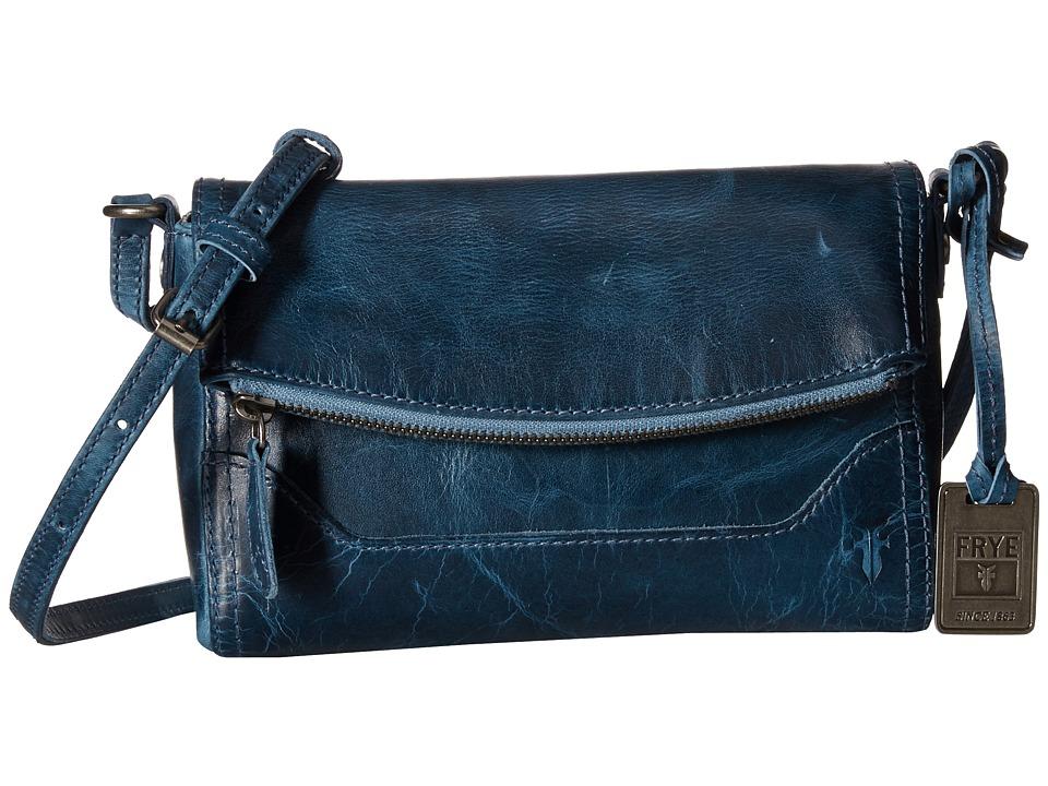 Frye - Melissa Foldover (Jeans Antique Pull Up) Shoulder Handbags