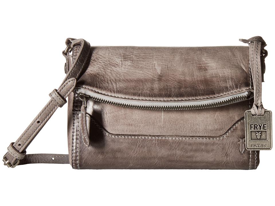 Frye - Melissa Foldover (Ice Antique Pull Up) Shoulder Handbags