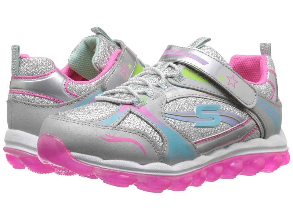 SKECHERS KIDS - Skech Air 80257L (Little Kid/Big Kid) (Silver/Multi) Girl's Shoes