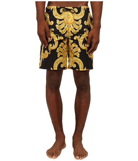 Versace - Baroque Nylon Swim Short (Gold) Men's Underwear