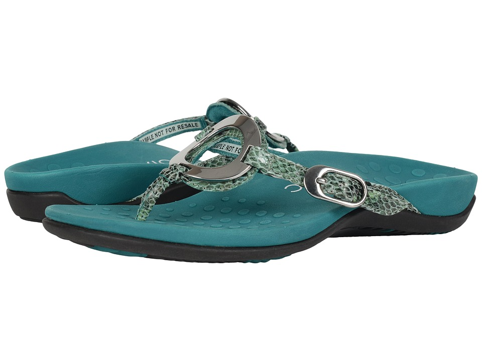 VIONIC - Rest Karina (Teal Snake) Women's Sandals