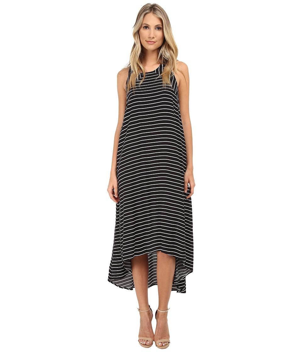 Culture Phit - Payton Striped Maxi (Black) Women's Dress
