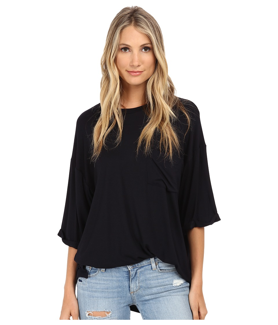Culture Phit - Oversized Modal Pocket Tee (Black) Women's T Shirt