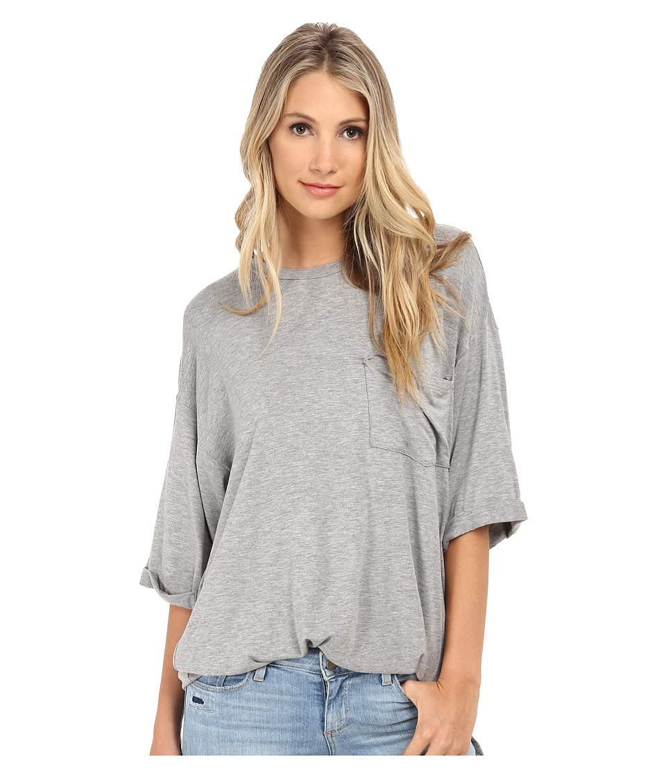 Culture Phit - Oversized Modal Pocket Tee (Grey) Women's T Shirt