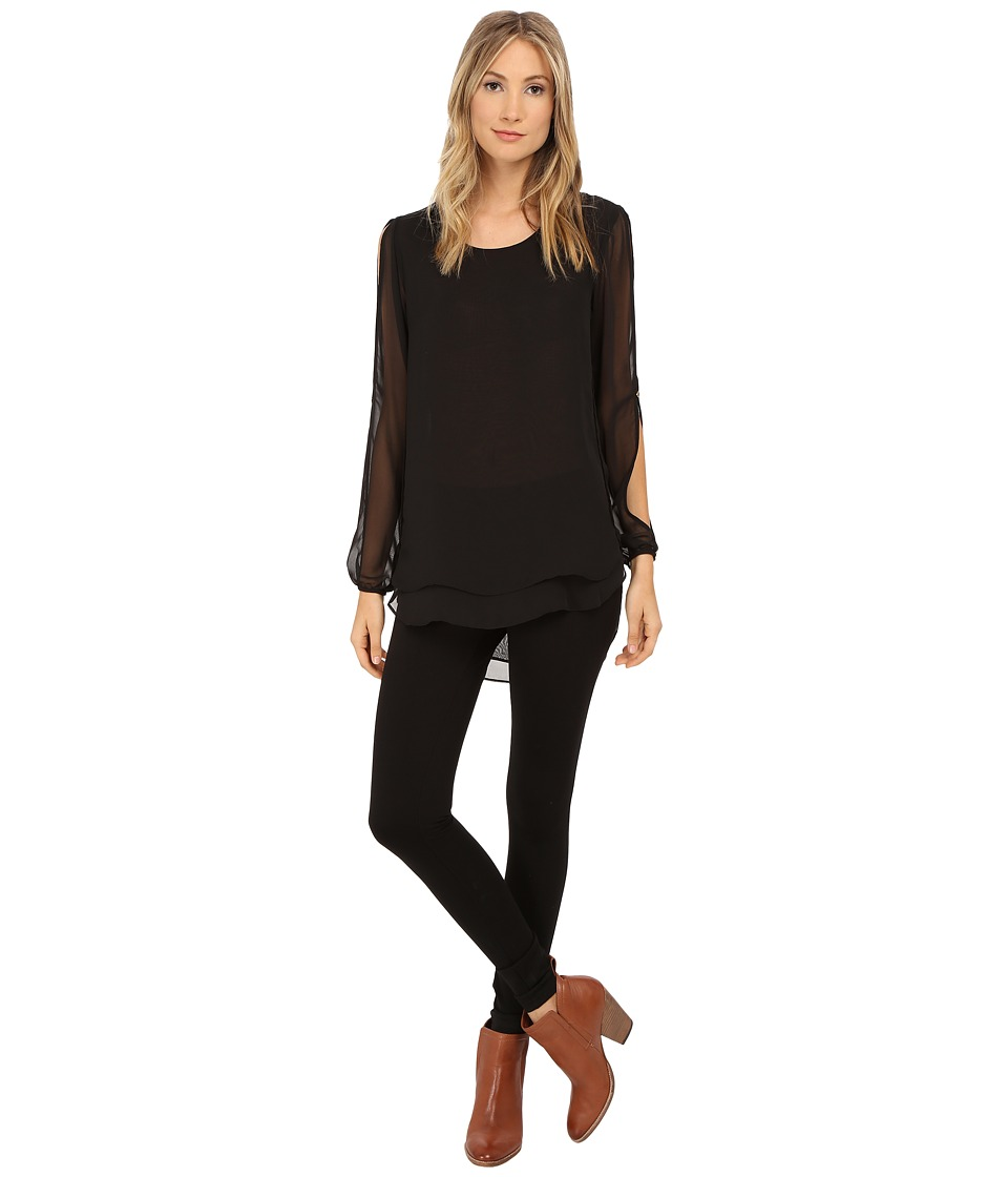 Christin Michaels - Elizabeth Blouse (Black) Women's Blouse plus size,  plus size fashion plus size appare