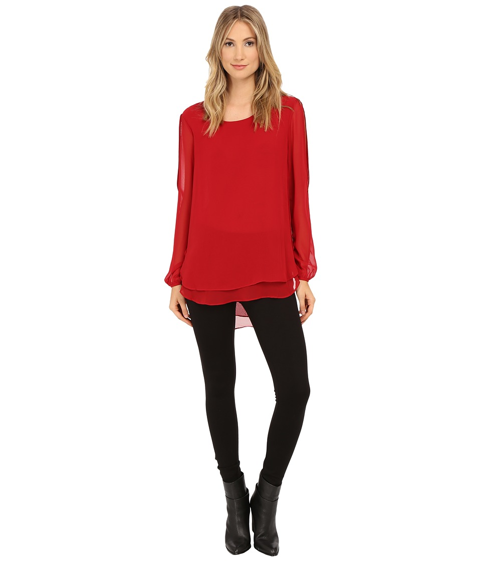 Christin Michaels - Elizabeth Blouse (Red Velvet) Women