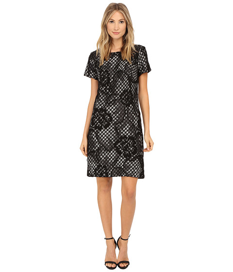 Christin Michaels - Katrina Tweed Dress (Black) Women's Dress