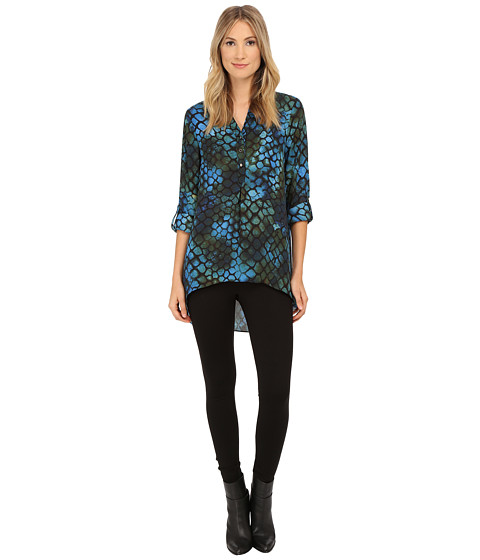 Brigitte Bailey - Jackie Blouse (Blue/Olive) Women's Blouse