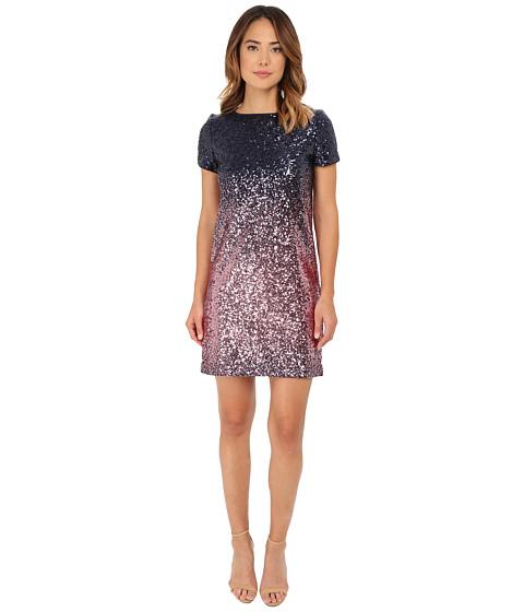 rsvp - Carrie Sequin Dress (Navy/Pink) Women's Dress