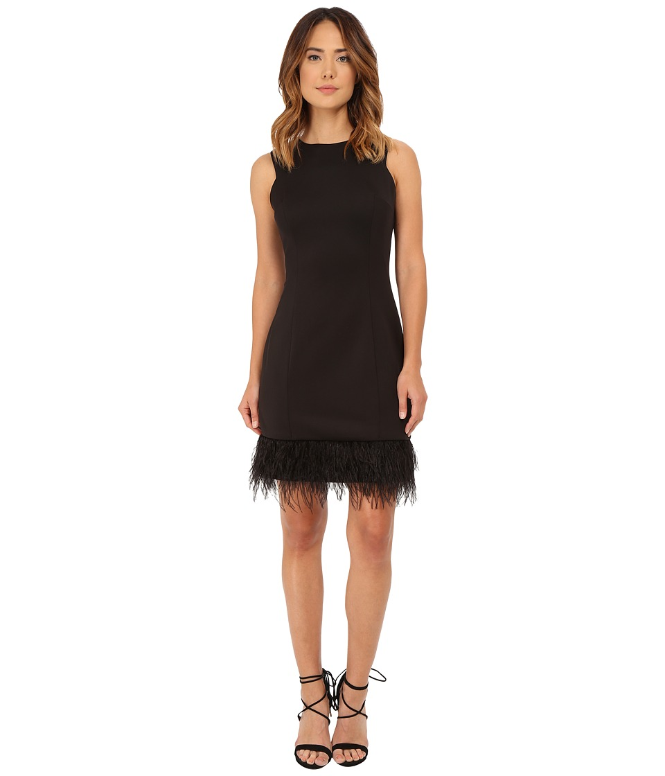 rsvp Anna Feather Trim Dress (Black) Women