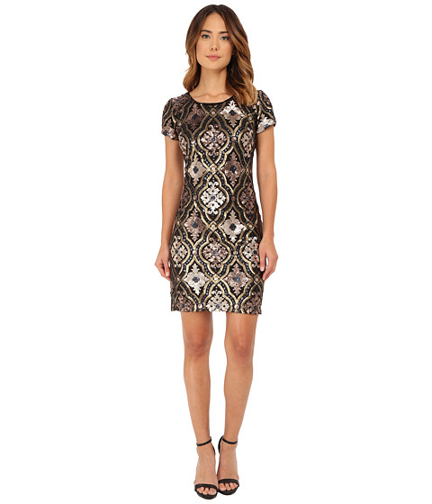 rsvp - Roma Sequin Dress (Bronze) Women's Dress