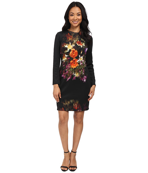 rsvp - Heather Floral Dress (Black) Women's Dress