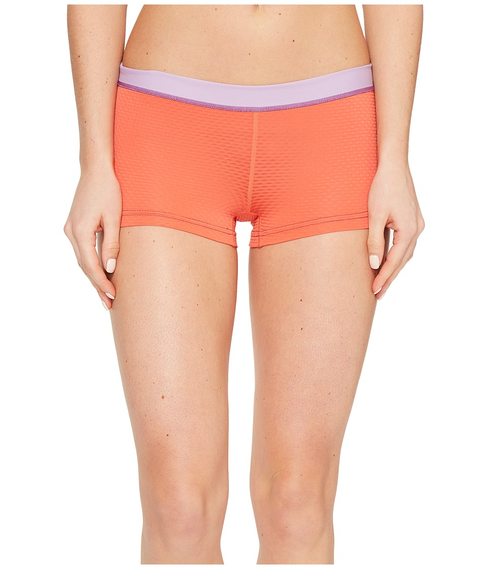 ExOfficio - Give-N-Go(r) Sport Mesh 2'' Boyshorts (Hot Coral) Women's Shorts