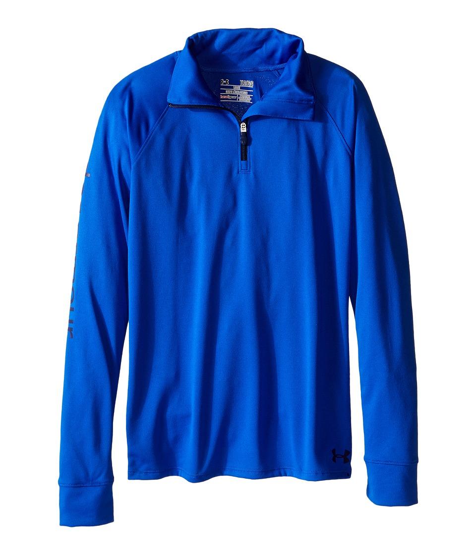 Under Armour Kids - UA Techtm 1/4 Zip (Big Kids) (Ultra Blue/Navy Magic) Girl's Long Sleeve Pullover