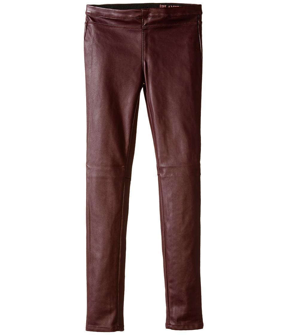 Blank NYC Kids - Vegan Leather Pull On Skinny (Big Kids) (Oxblood) Girl's Casual Pants