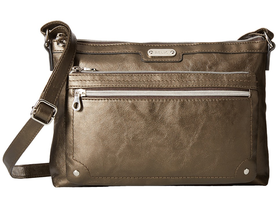 Relic - Evie East West Crossbody (Metallic Chrome) Cross Body Handbags