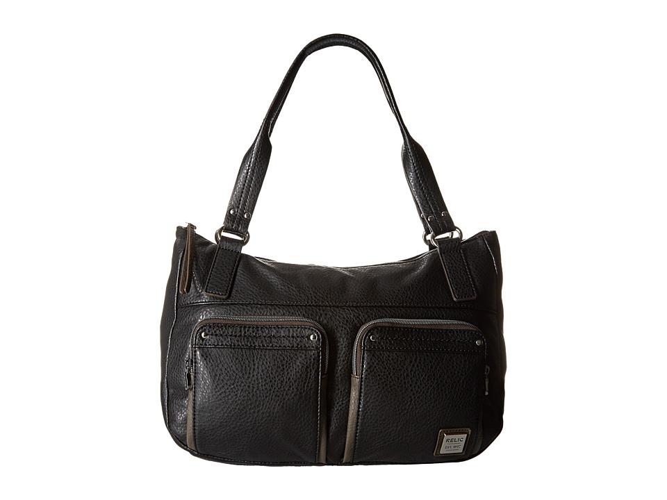 Relic - Bryce Double Shoulder (Black) Shoulder Handbags